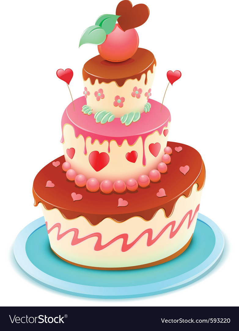Romantic cake vector | Price: 3 Credit (USD $3)