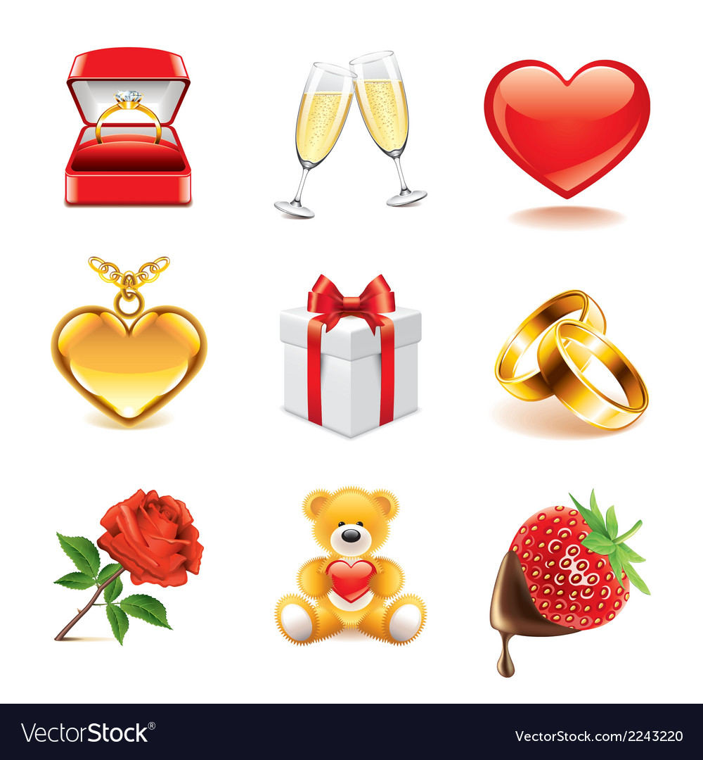 Set romantic vector | Price: 1 Credit (USD $1)