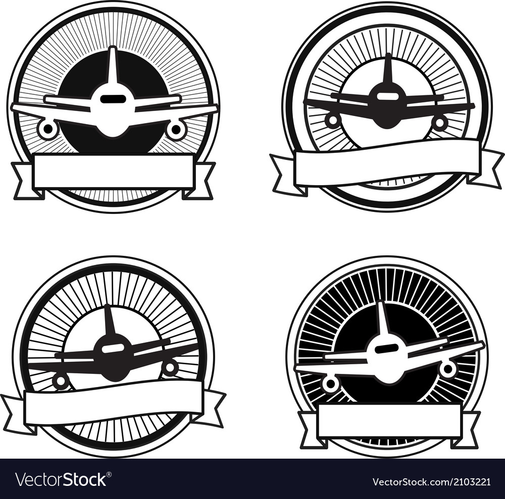 Air travel badges vector | Price: 1 Credit (USD $1)