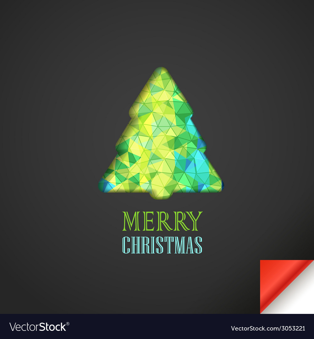 Christmas greeting card with abstract vector | Price: 1 Credit (USD $1)