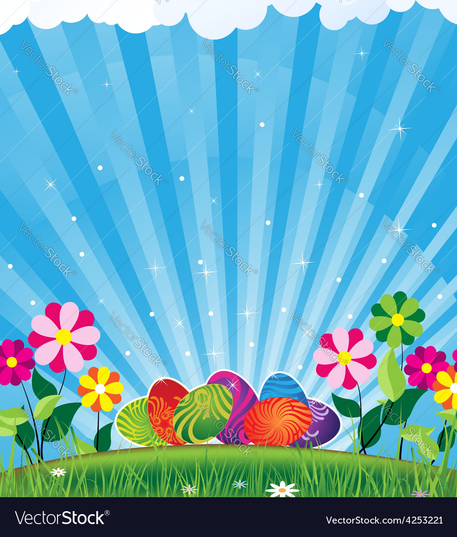 Easter eggs and shine vector | Price: 3 Credit (USD $3)