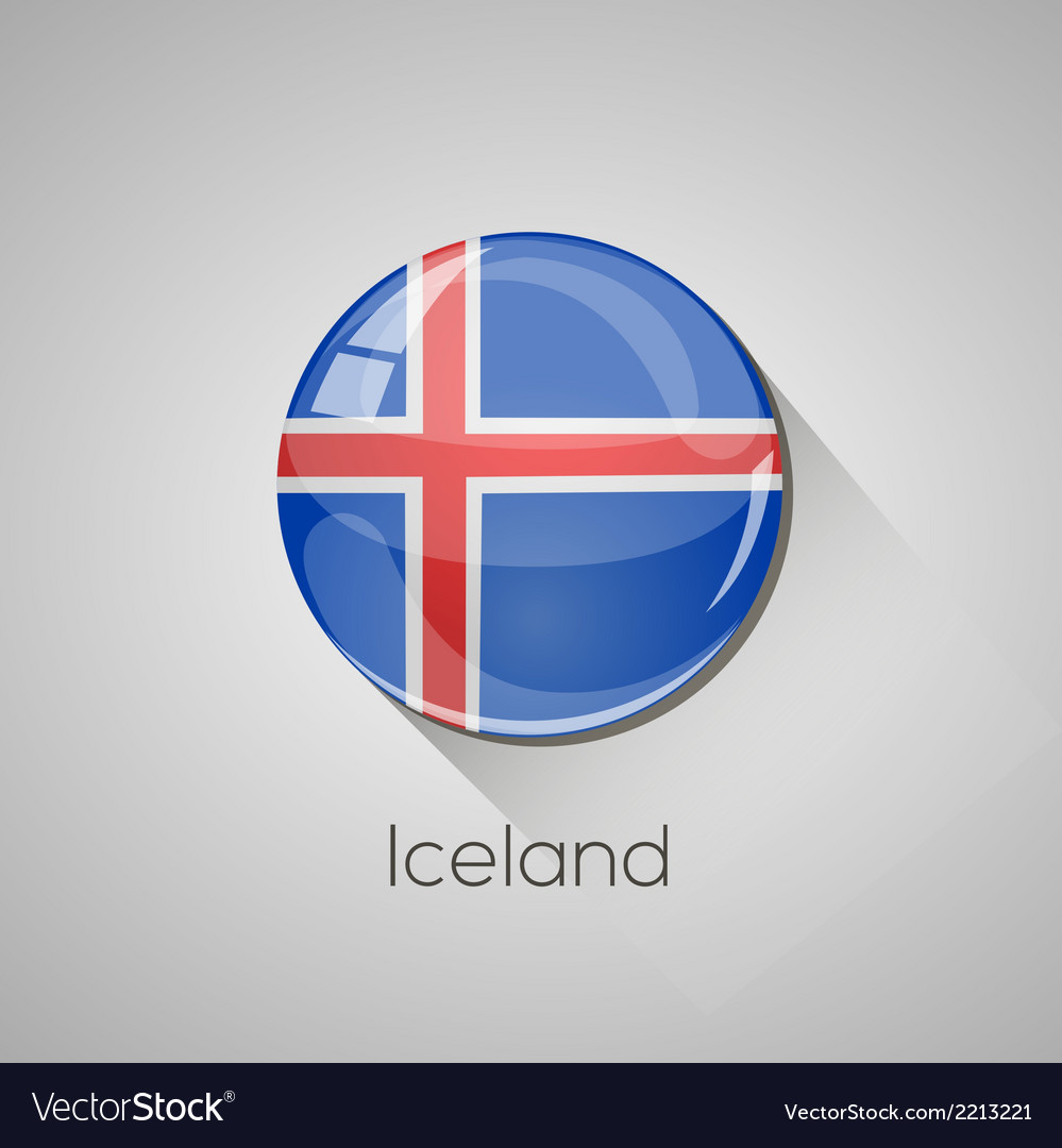 European flags set - iceland vector | Price: 1 Credit (USD $1)