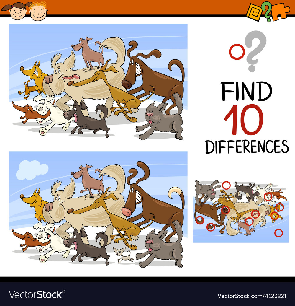 Finding differences game cartoon vector   Price: 3 Credit (USD $3)