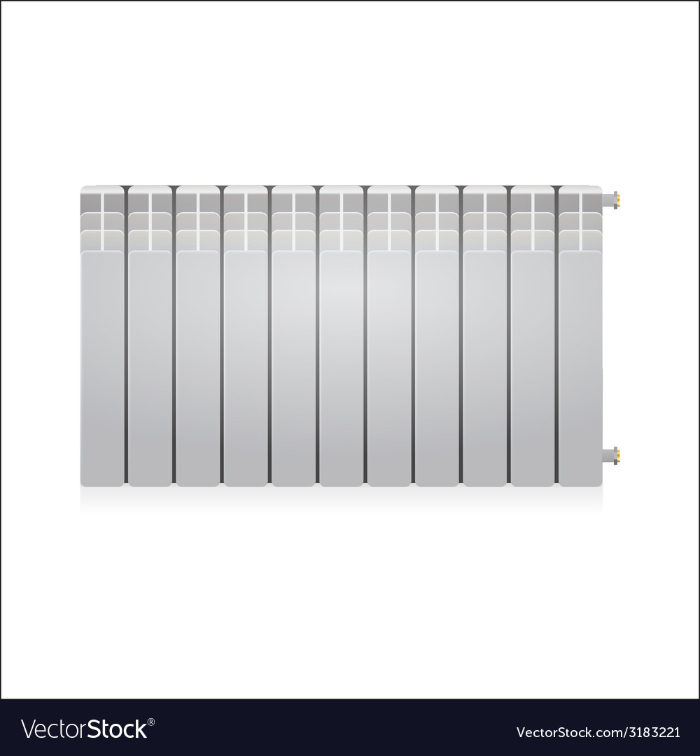 Gray radiator vector | Price: 1 Credit (USD $1)
