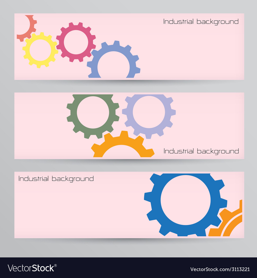 Industrial banner background concept vector | Price: 1 Credit (USD $1)