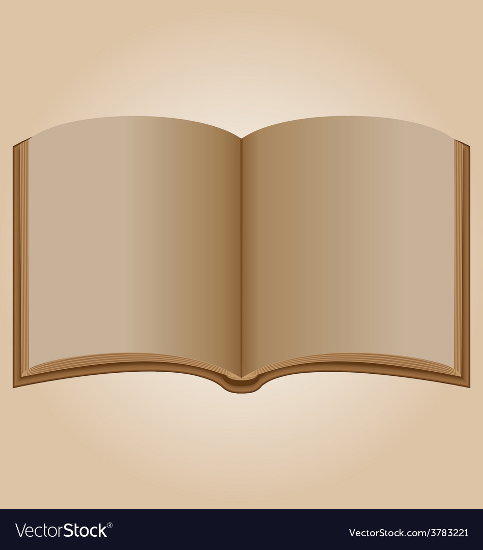 Old open book vector | Price: 1 Credit (USD $1)