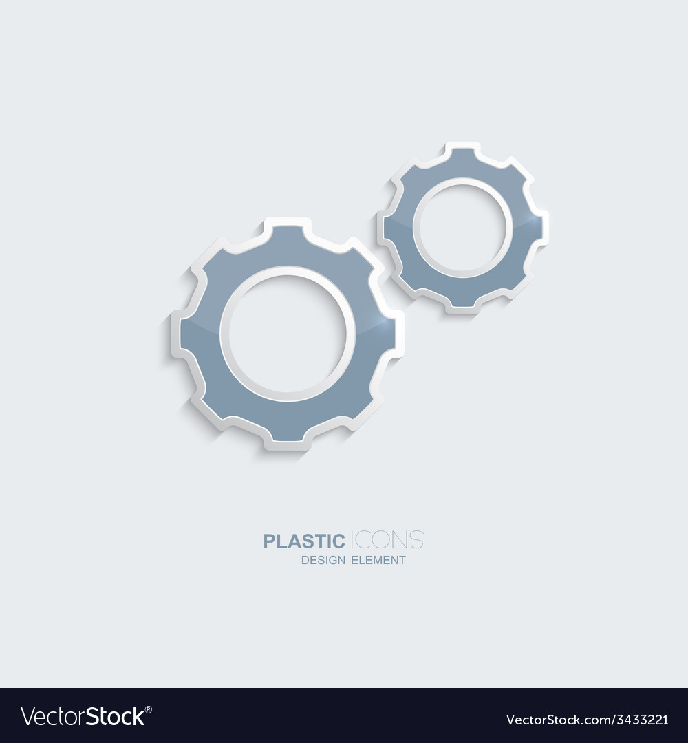 Plastic icon setting symbol vector | Price: 1 Credit (USD $1)