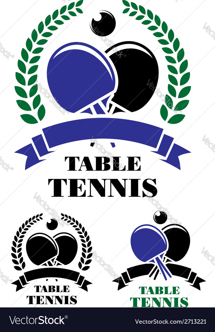 Table tennis emblems set vector | Price: 1 Credit (USD $1)