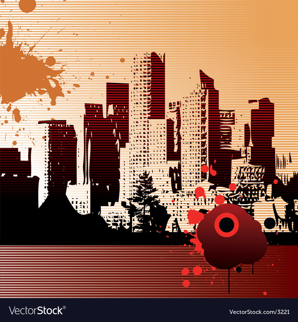 Urban city illustration vector | Price: 1 Credit (USD $1)