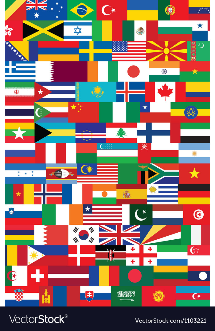 World flags backround vector | Price: 1 Credit (USD $1)