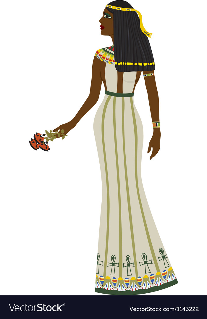 Ancient egyptian woman vector | Price: 3 Credit (USD $3)