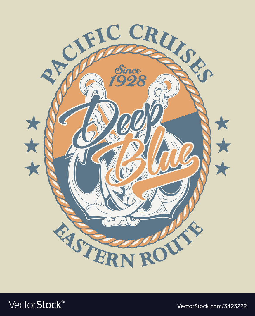 Deep blue pacific cruises vector | Price: 1 Credit (USD $1)
