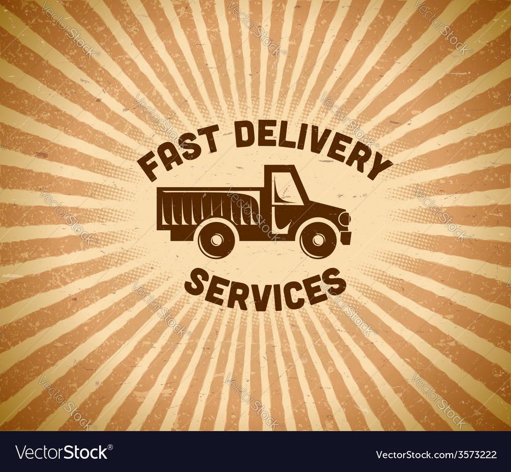 Delivery vintage label vector | Price: 1 Credit (USD $1)