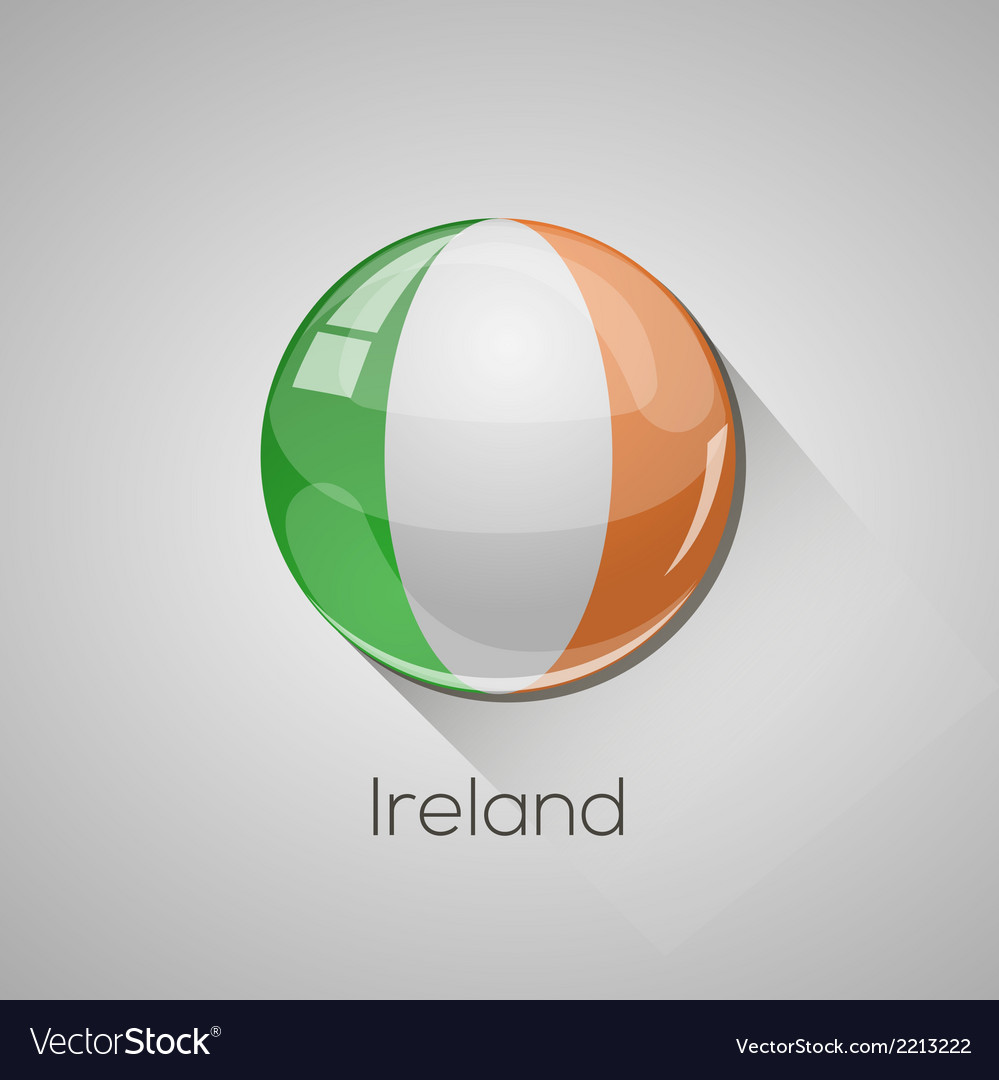 European flags set - ireland vector | Price: 1 Credit (USD $1)