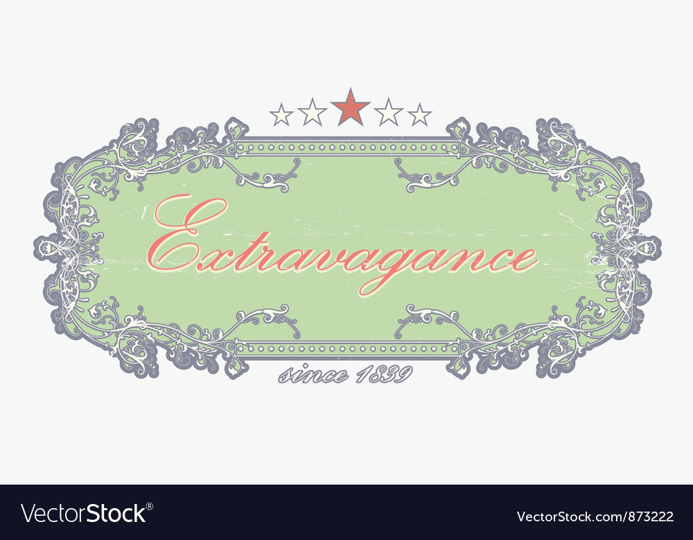 Grunge floral label vector | Price: 1 Credit (USD $1)