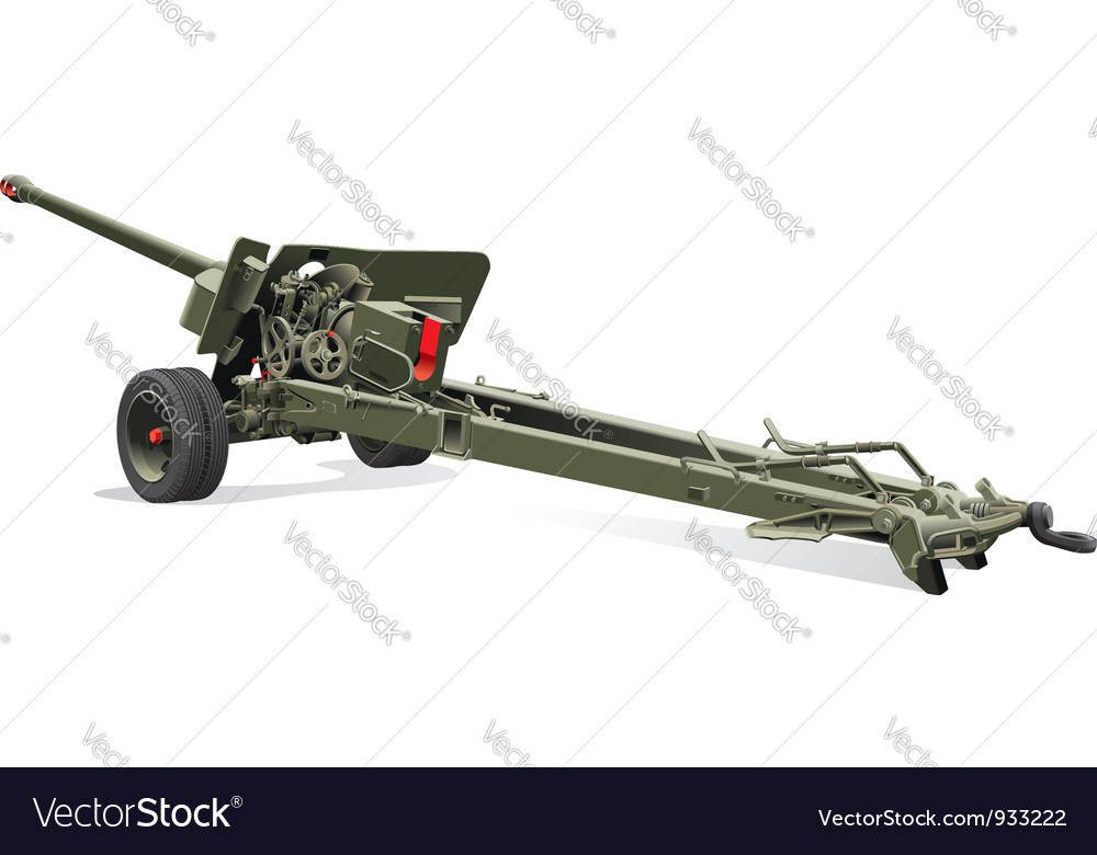 Old field gun vector | Price: 3 Credit (USD $3)