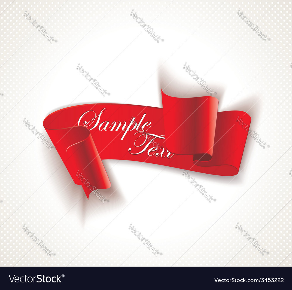 Red silky ribbon banner vector   Price: 1 Credit (USD $1)