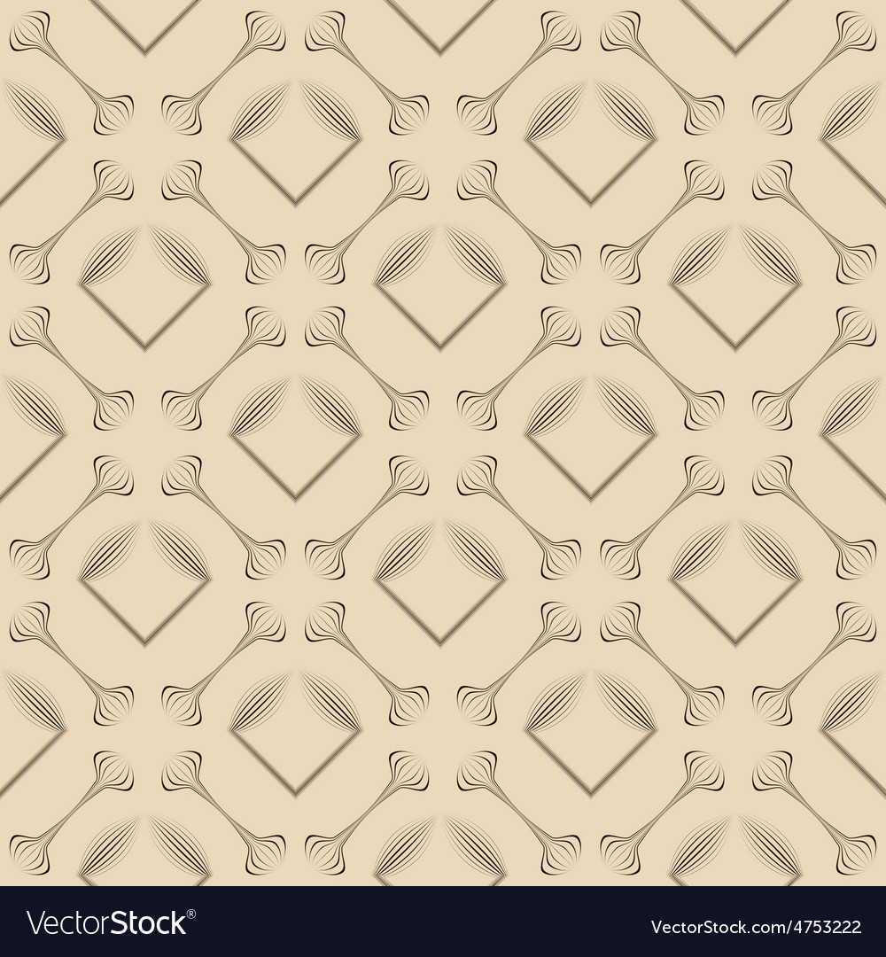Seamless pattern stylish ornament geometric vector | Price: 1 Credit (USD $1)