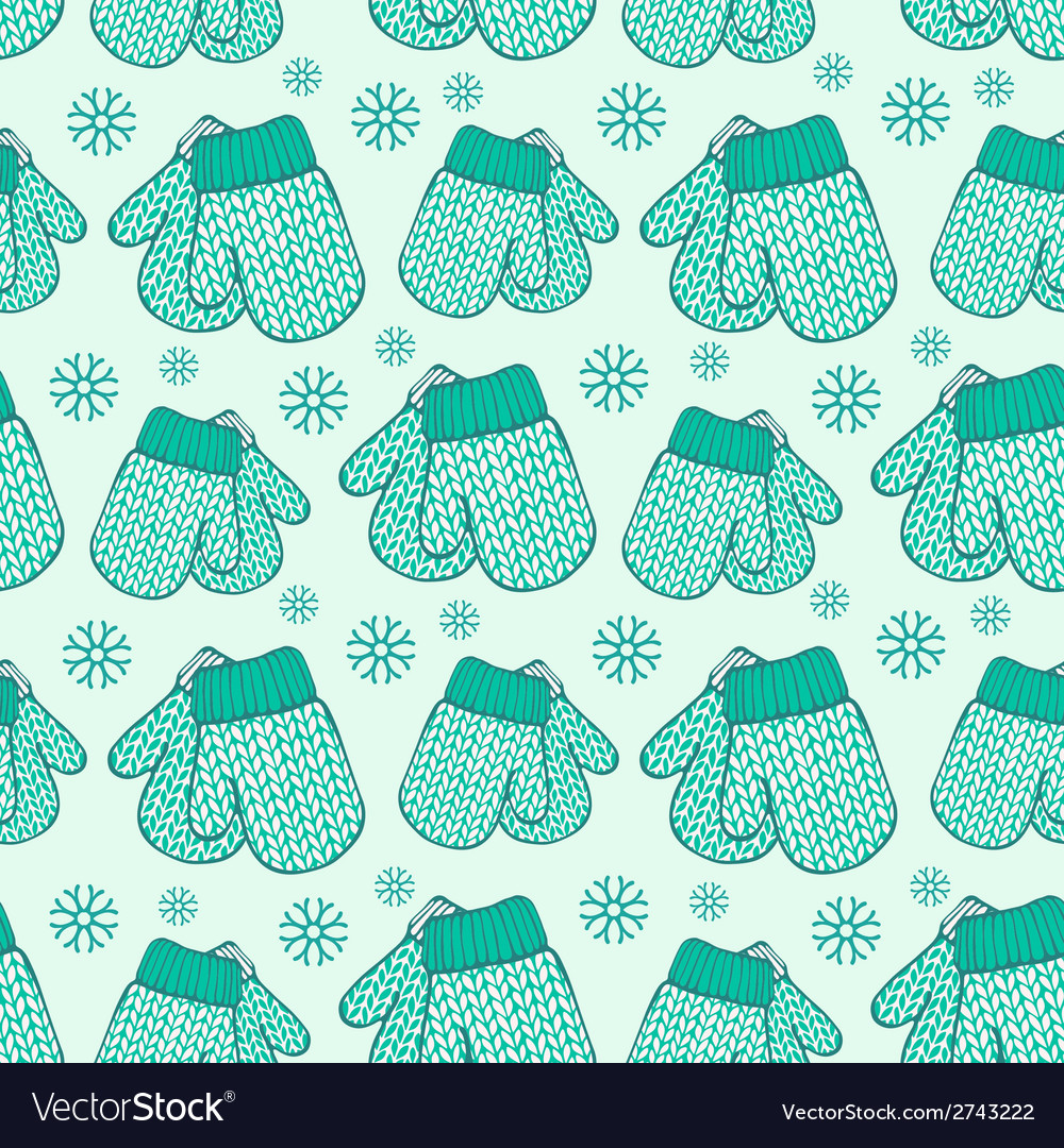 Seamless pattern with colorful stylized knitted vector | Price: 1 Credit (USD $1)