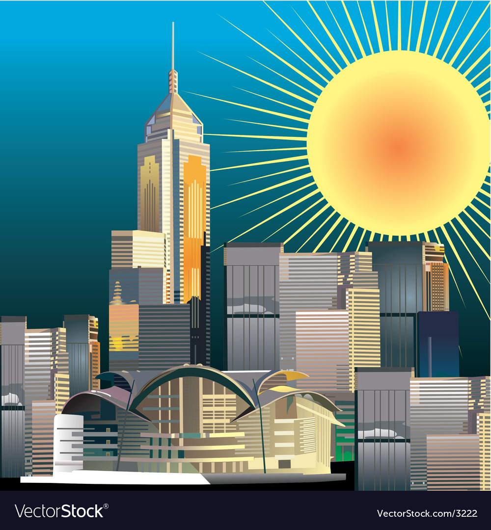 Urban city illustration vector | Price: 3 Credit (USD $3)