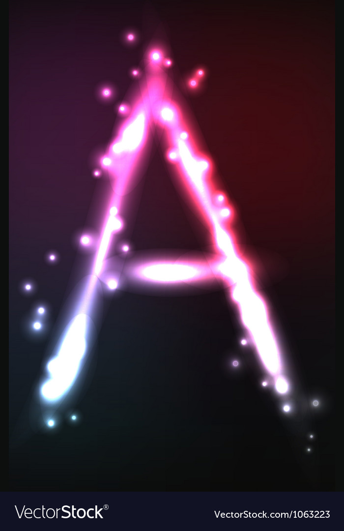 Alphabet neon letter vector | Price: 1 Credit (USD $1)