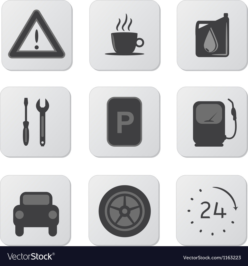 Automobile icons vector | Price: 1 Credit (USD $1)