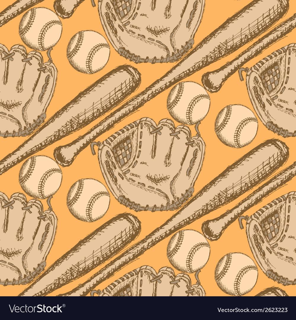 Baseball bat ball glove vector | Price: 1 Credit (USD $1)
