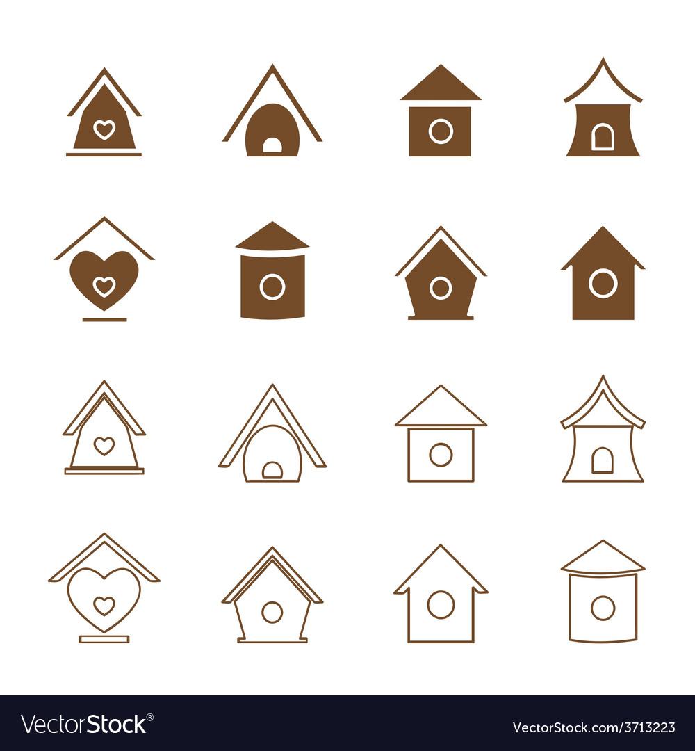 Bird houses vector | Price: 1 Credit (USD $1)