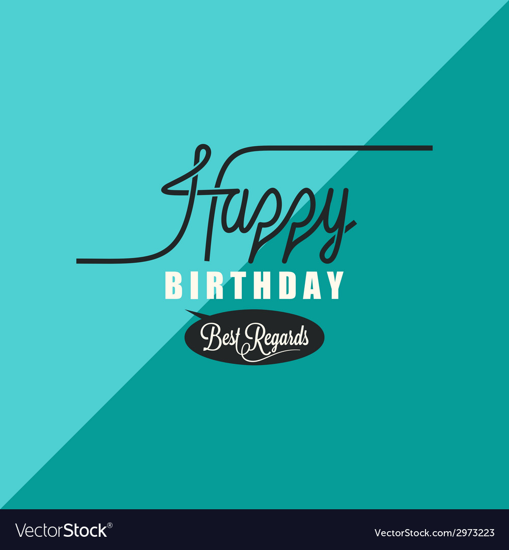 Birthday vintage background vector | Price: 1 Credit (USD $1)