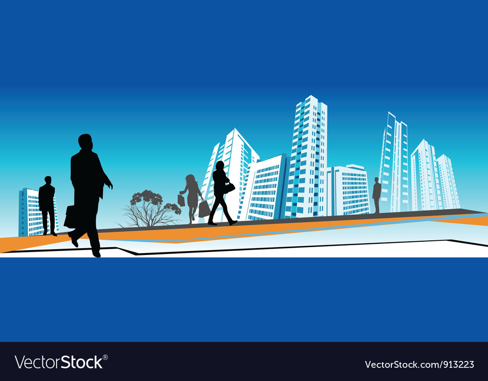 Business people walking vector | Price: 1 Credit (USD $1)