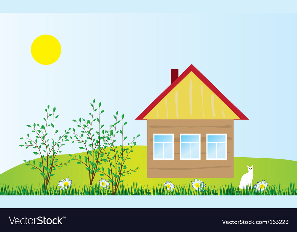 Cozy cottage vector   Price: 1 Credit (USD $1)