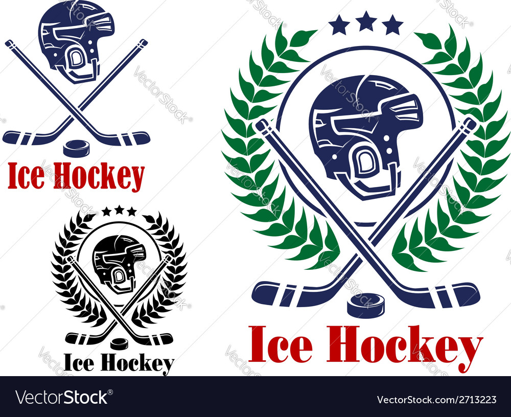 Ice hockey symbols and emblems vector | Price: 1 Credit (USD $1)