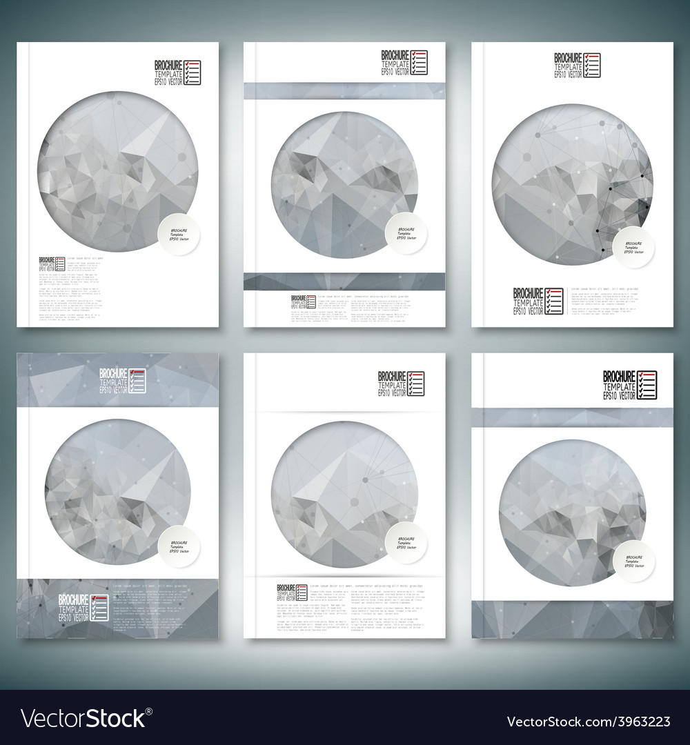Molecule structure background brochure flyer or vector | Price: 1 Credit (USD $1)
