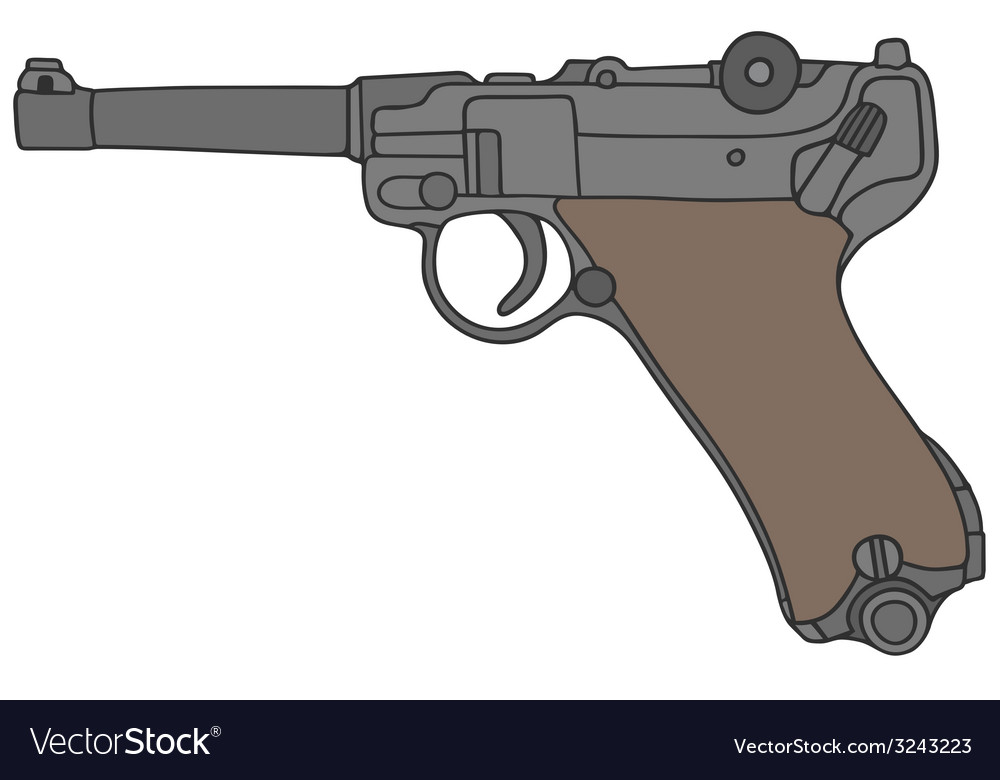 Old germany handgun vector | Price: 1 Credit (USD $1)
