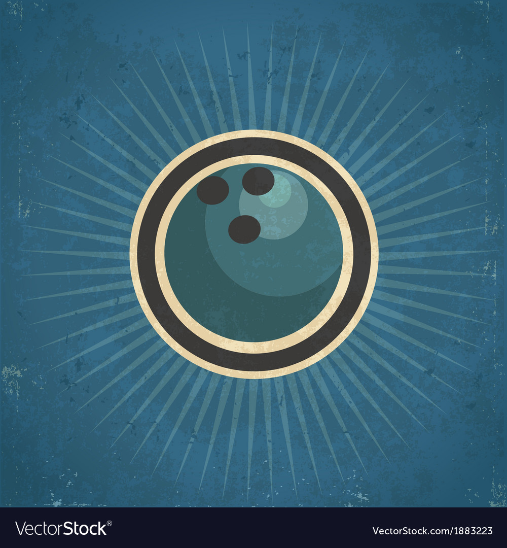 Retro bowling ball vector | Price: 1 Credit (USD $1)