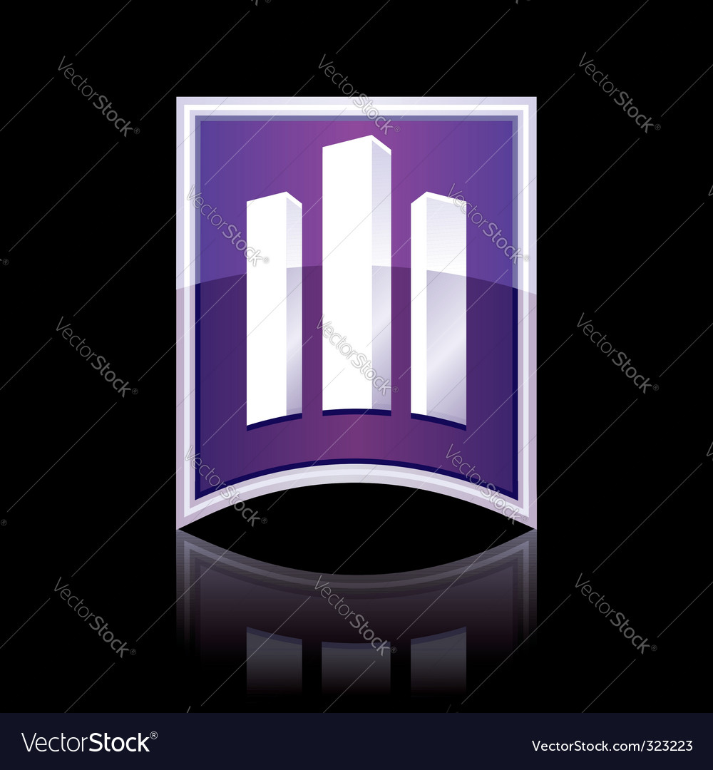 Sign towers building vector