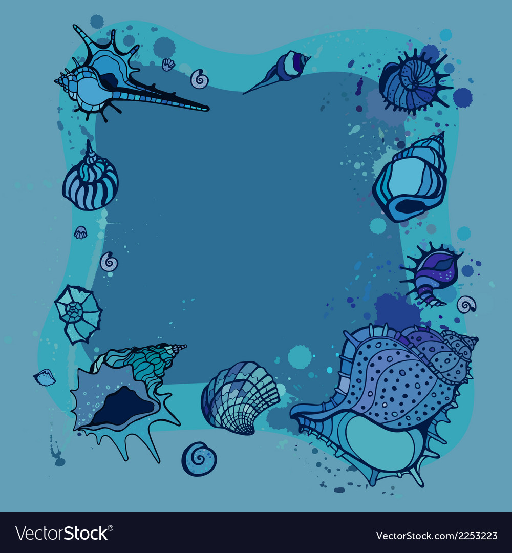 Summer frame of seashells vector | Price: 1 Credit (USD $1)