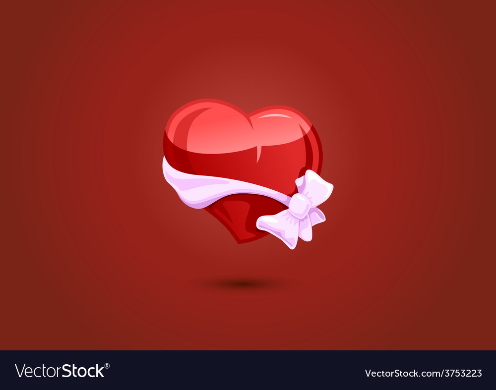 Valentine heart with a bow-knot vector | Price: 1 Credit (USD $1)