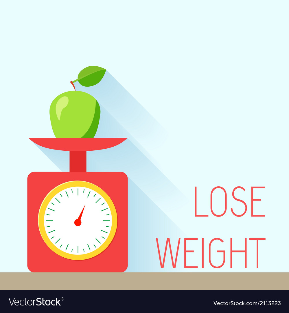 Weight poster diet vector | Price: 1 Credit (USD $1)