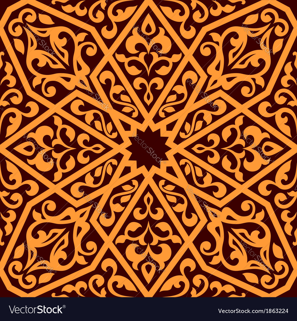 Arabian seamless tile pattern vector | Price: 1 Credit (USD $1)