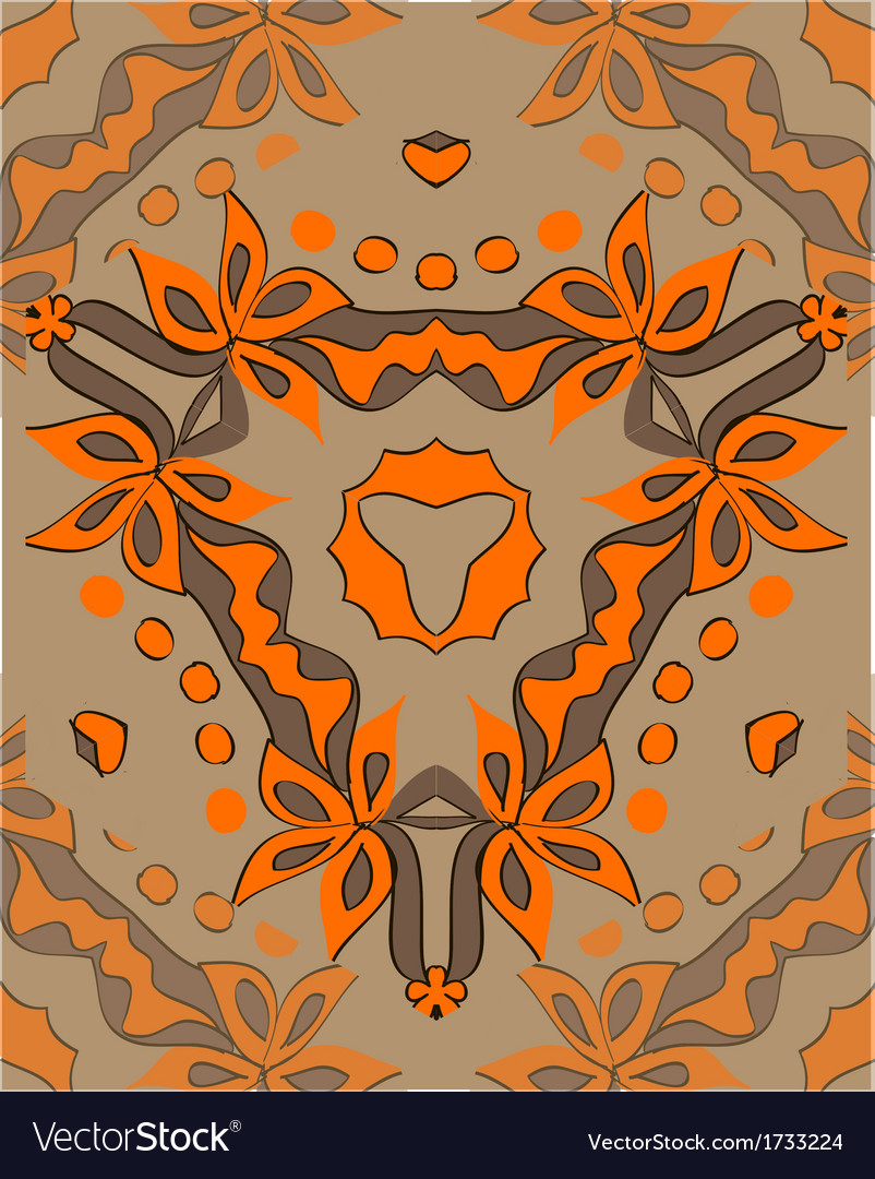 Decorative and vegetable ornament of the orange vector | Price: 1 Credit (USD $1)