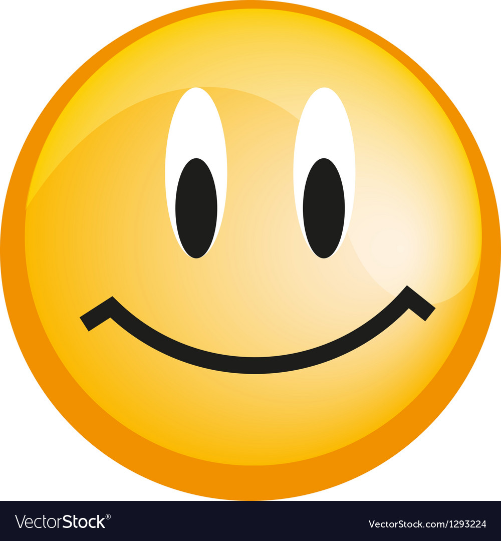 Emoticon with smiley face yellow web icon vector | Price: 1 Credit (USD $1)