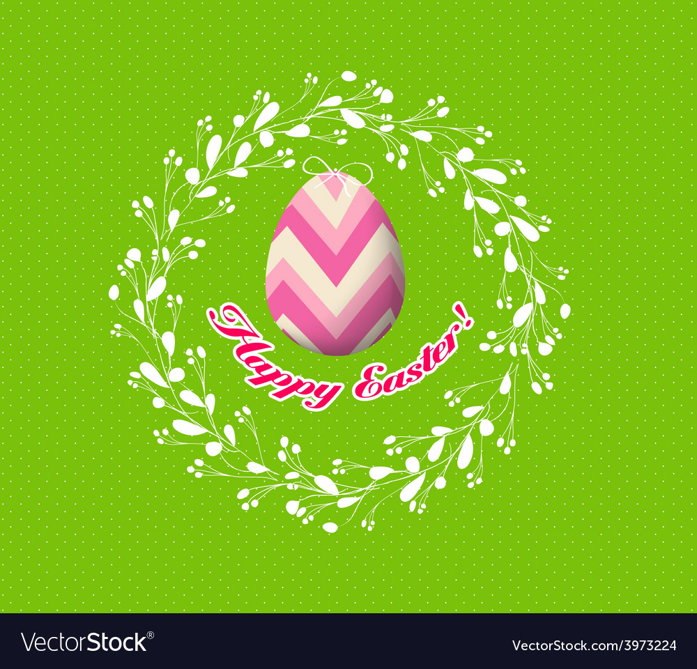 Floral easter egg vector | Price: 1 Credit (USD $1)