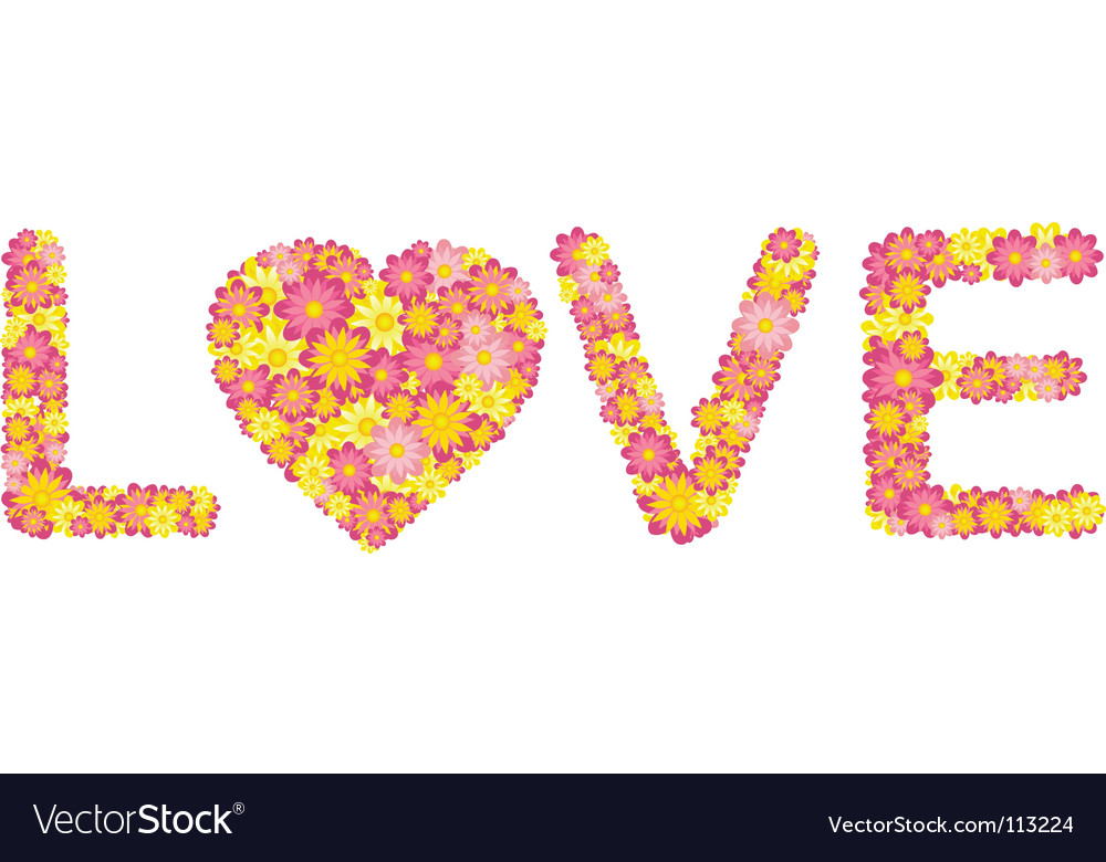 Floral love vector | Price: 1 Credit (USD $1)