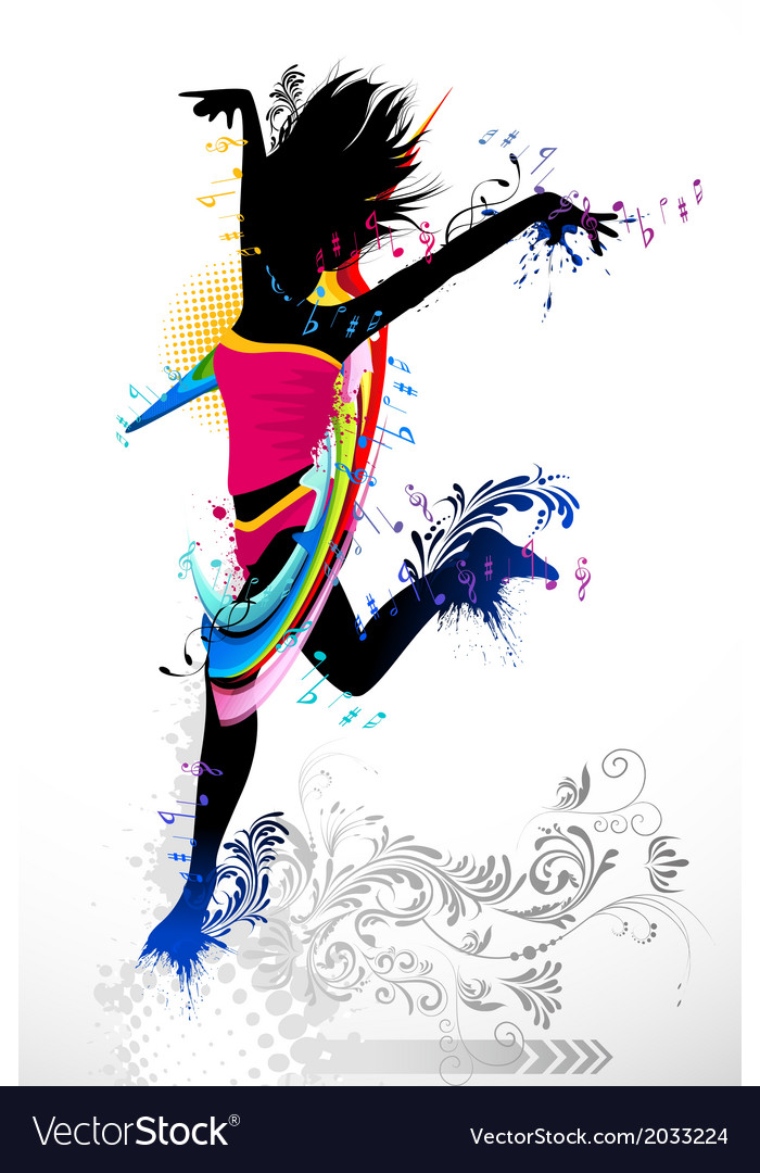 Grungy dancer vector | Price: 1 Credit (USD $1)