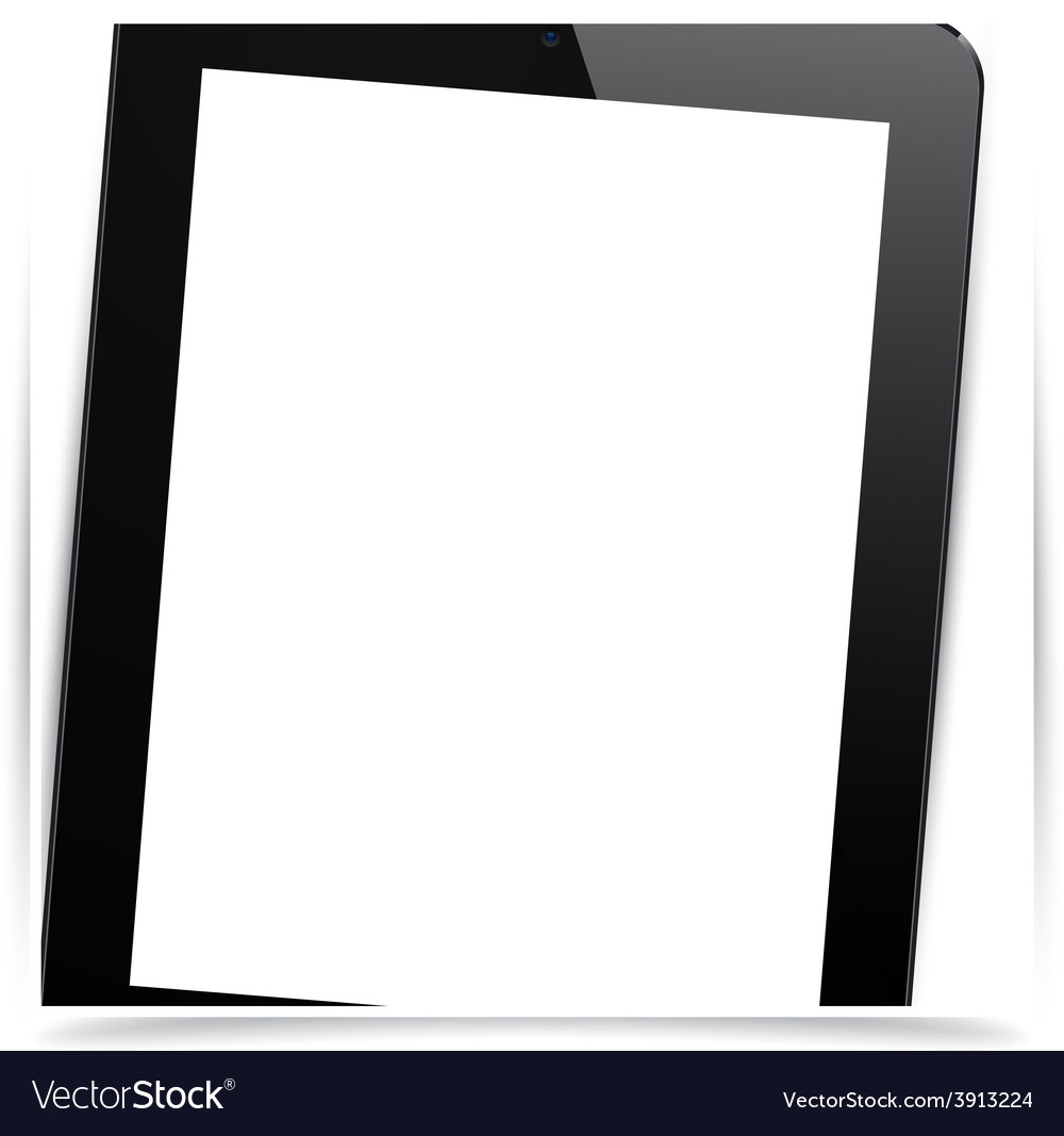 Realistic black tablet pc vector | Price: 1 Credit (USD $1)