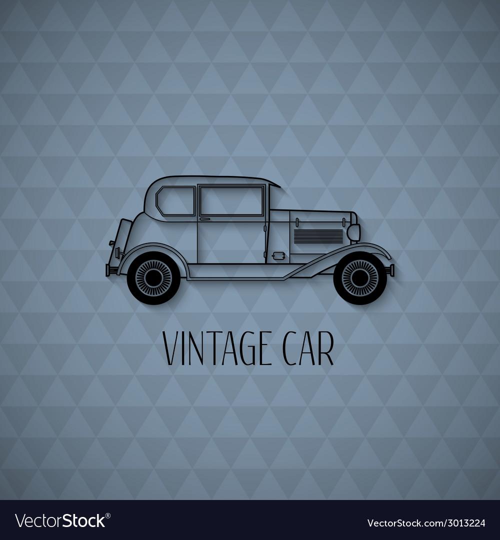 Retro car vintage outline style vector | Price: 1 Credit (USD $1)