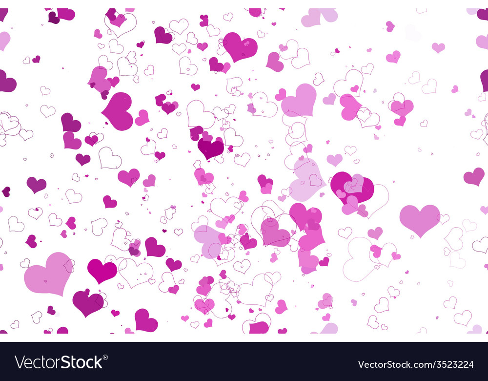 Retro valentine seamless pattern with hearts vector   Price: 1 Credit (USD $1)
