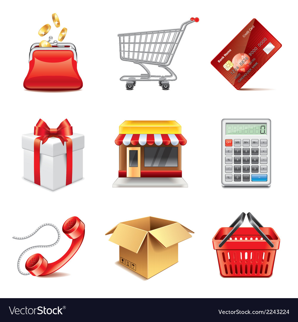 Set shopping vector | Price: 1 Credit (USD $1)
