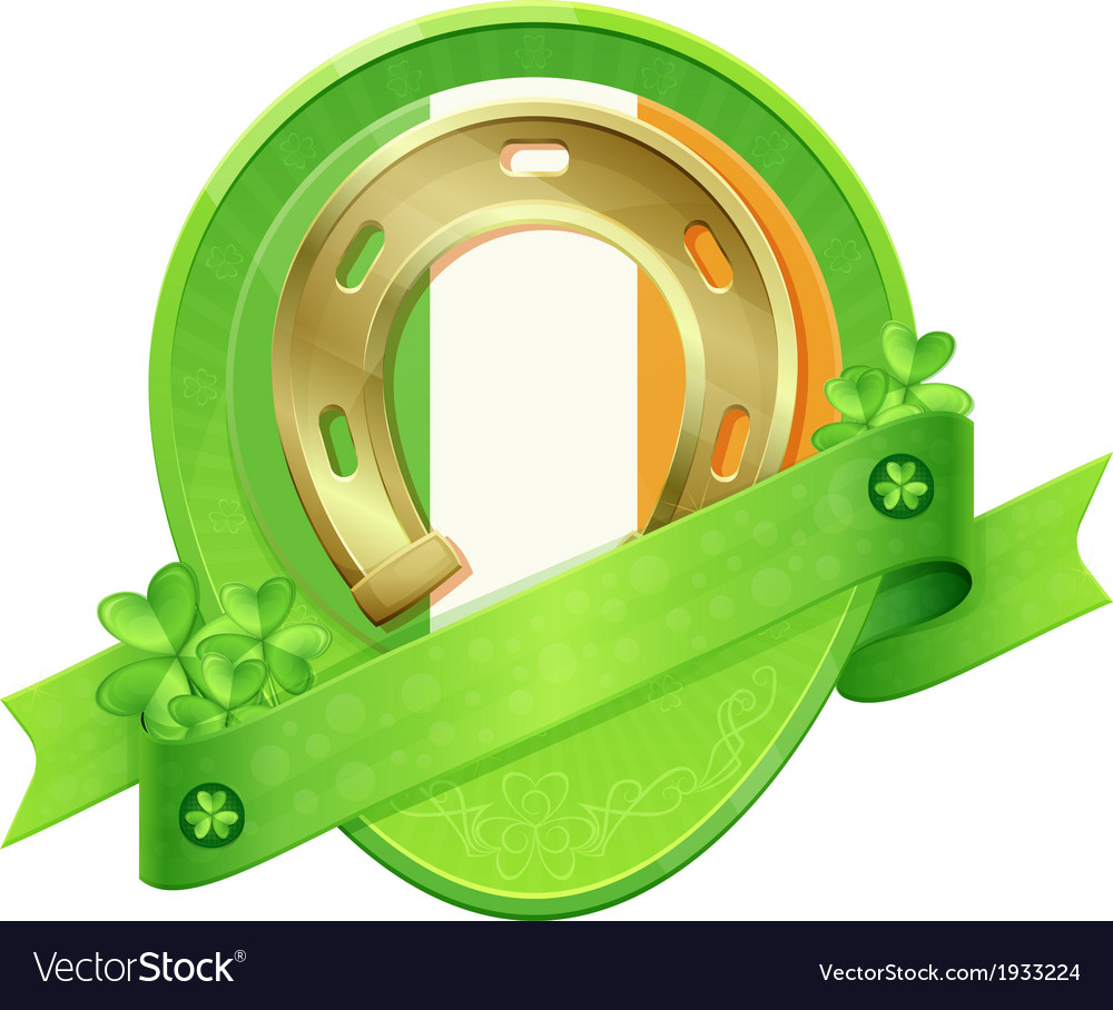 Sticker horseshoe st patricks day vector | Price: 3 Credit (USD $3)